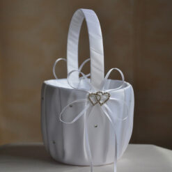White flower girl basket Ireland
