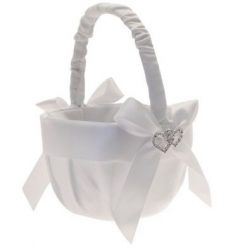 White Flower girl basket ireland