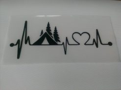 Love Camping Tent vinyl sticker
