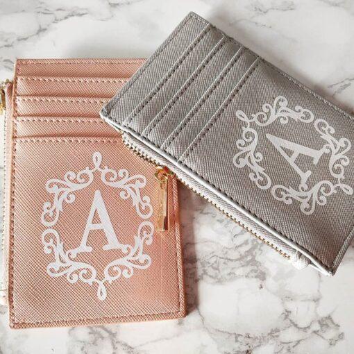 Monogram purse card holder gift for women ladies