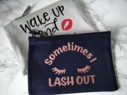 Slogan Canvas Make up Bag Ireland - Sometimes I lash out