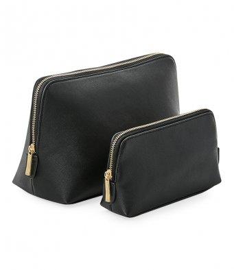 Black make up bag - personalised, bridal gifts