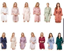 Adults Satin Lace Robes