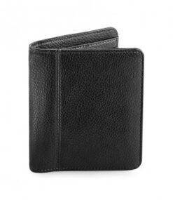 Black personalised wallet - mens gift