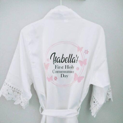Personalised Communion Day Robe Ireland