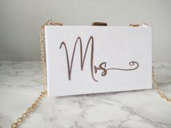 Personalised Acrylic Clutch Bag Ireland